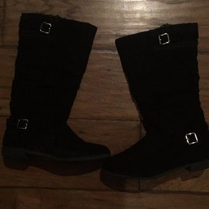 Girls justice black boots size 3